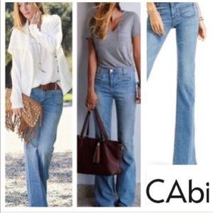 •• CAbi •• Malibu Flare Jeans SZ 6